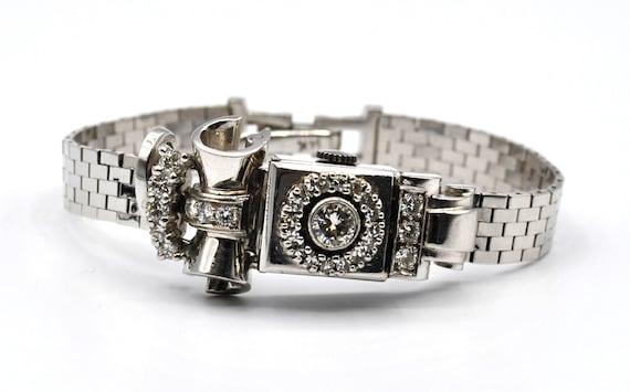 14k White Gold Diamond (1.25 ct) Lace Design Locke