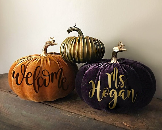 VELVET Personalized Pumpkin