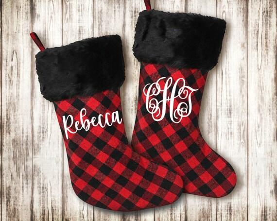 Buffalo Plaid Stocking - Personalized Christmas Stocking