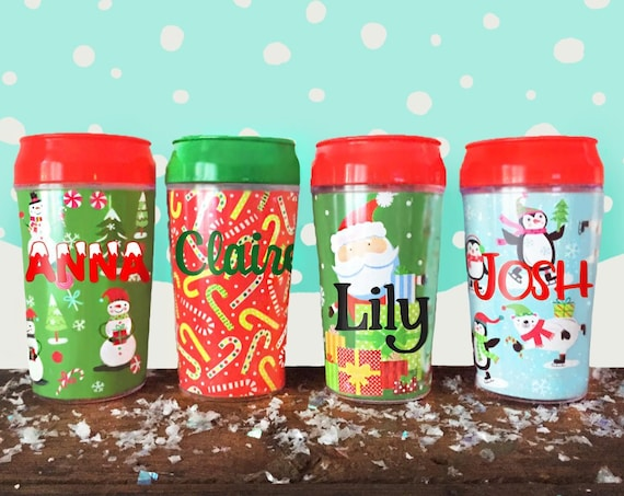 CUSTOM Holiday Travel Cup- Kid Size Personalized 11oz