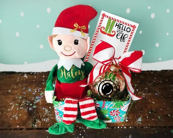 Personalized Elf Gift Set| Plush Christmas Elf | Elf Gift