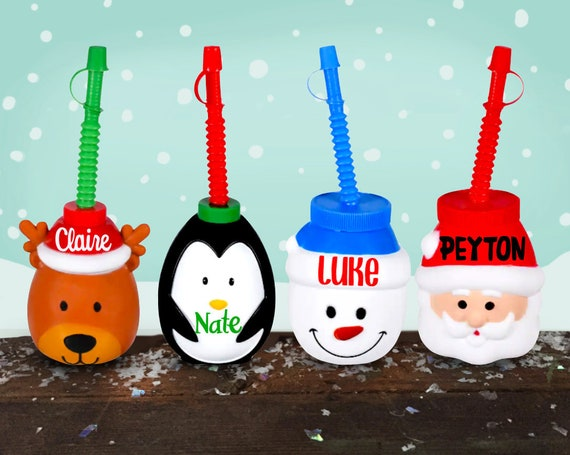 Holiday Character Cup | Personalized Travel Cup | Stocking Stuffer