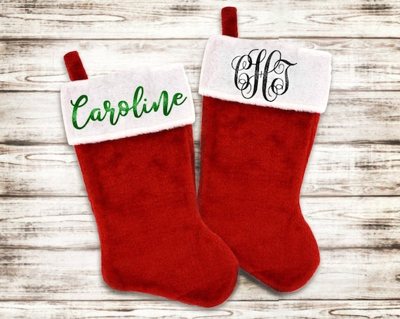 Personalized Christmas Stocking - Monogram Stocking - Pet Stocking
