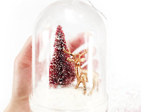 Reindeer Snow Globe DIY Kit | Snow Globe Ornament | DIY Christmas Gift