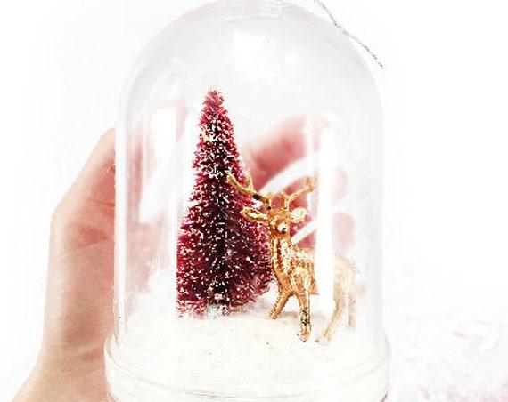 Reindeer Snow Globe DIY Kit | Snow Globe Ornament | DIY Christmas Gift