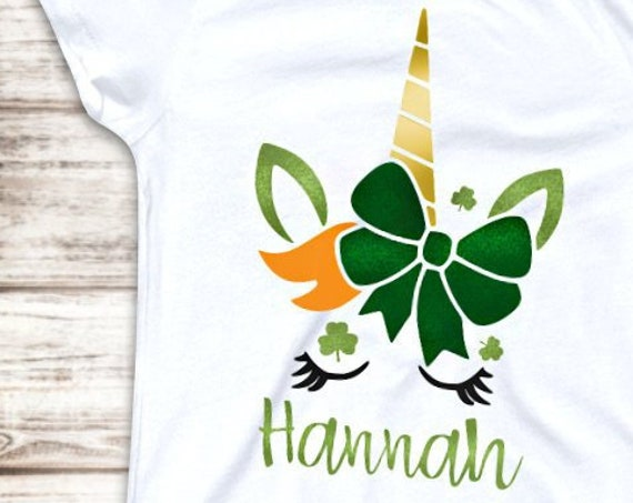 St. Patrick's Day Unicorn Shirt- Personalized