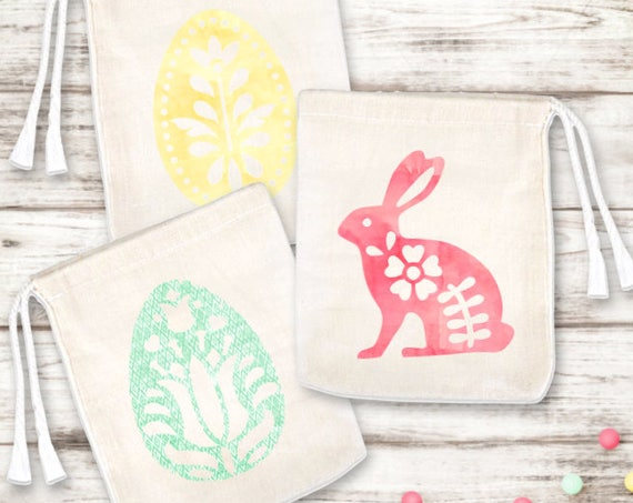 Set of 6 Easter Egg Favor Bags