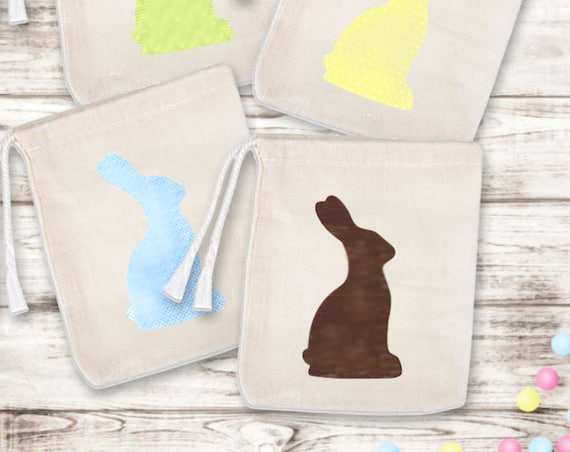 Set of 6 Bunny Favor Bags