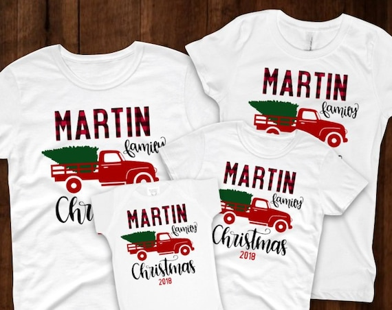 Family Christmas Shirts- Matching Personalized