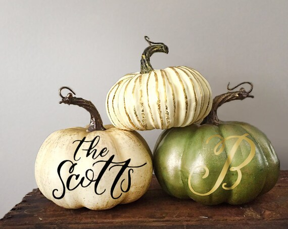 Personalized Pumpkins- Custom Text