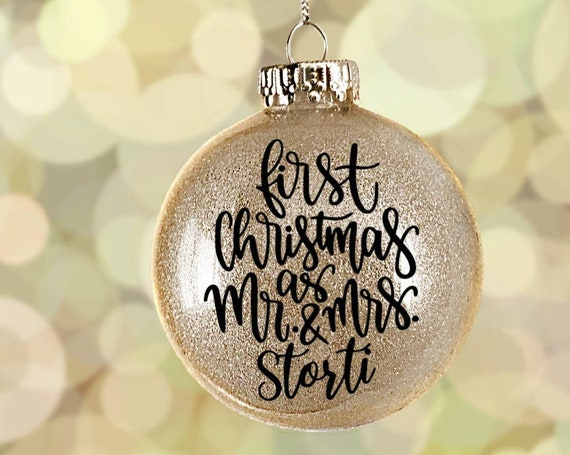 Custom Christmas Ornament | First Christmas Ornament | Wedding Ornament