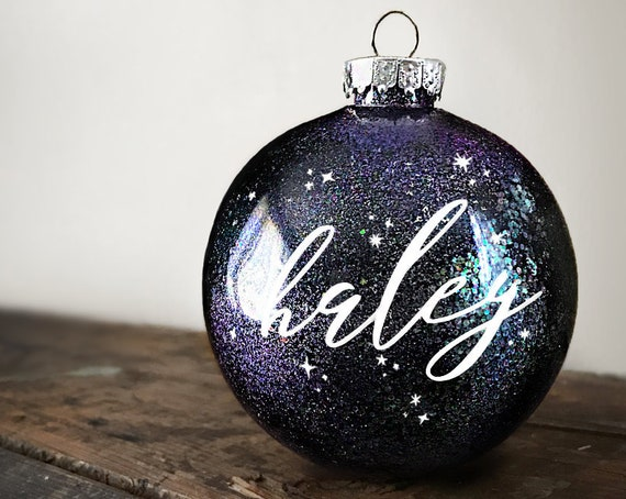 Custom Christmas Ornament | Galaxy Personalized Ornament | Celestial Ornament