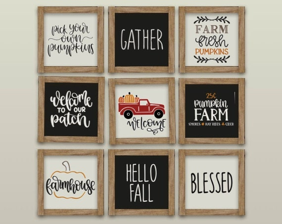Mini Farmhouse Sign - Fall Welcome