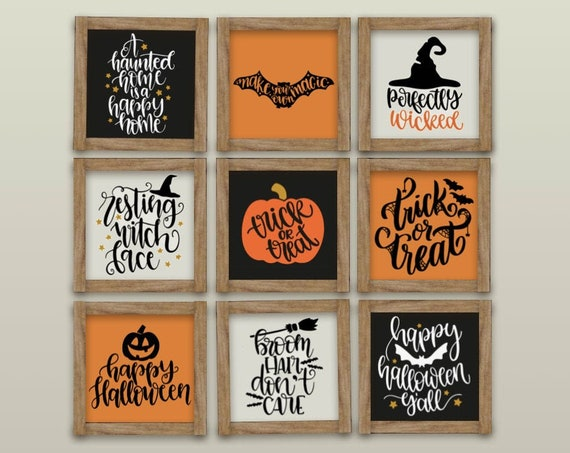 Mini Halloween Sign - Farmhouse Halloween