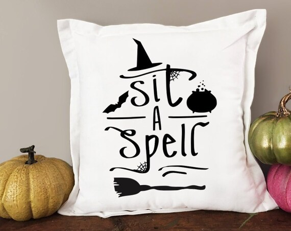 Halloween Throw Pillow- Sit a Spell