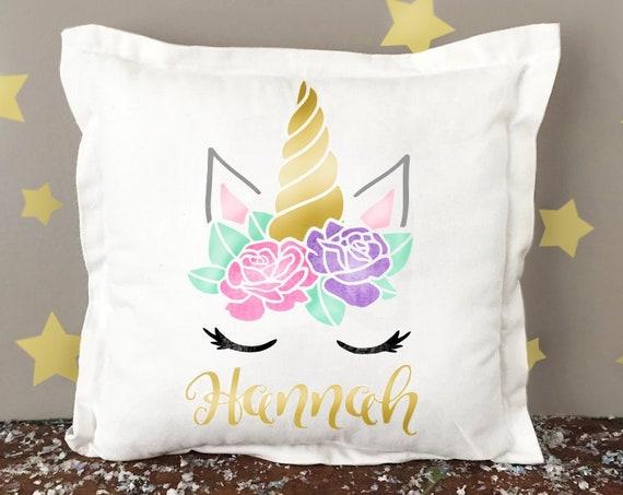 Personalized Unicorn Pillow   Unicorn Pillow Cover   Personalized Unicorn Pillow