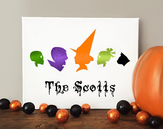 Halloween Family Portrait Personalized Sign