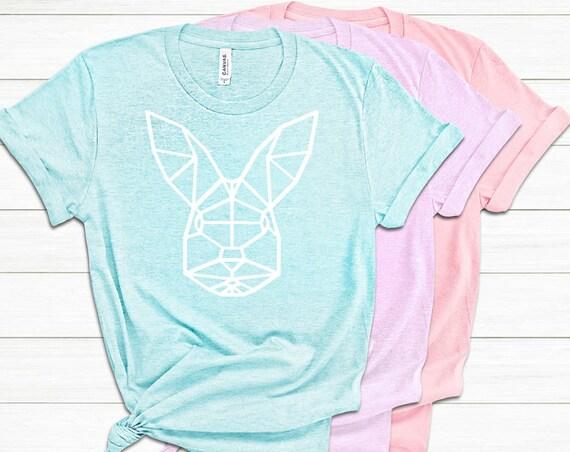 Easter Shirt- Geometric Bunny