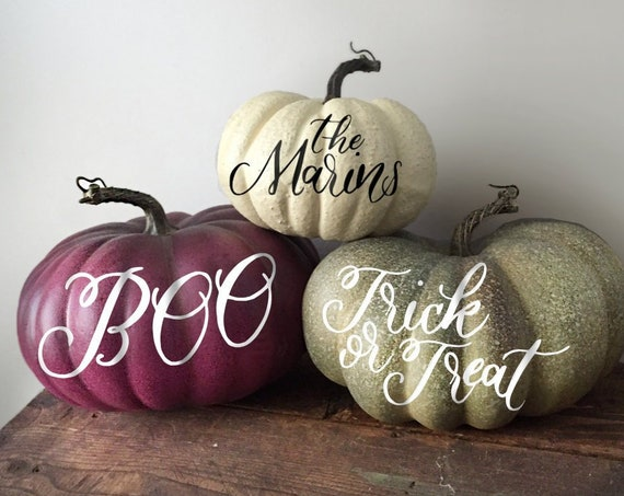 Halloween Pumpkin- Personalized Hand Lettered