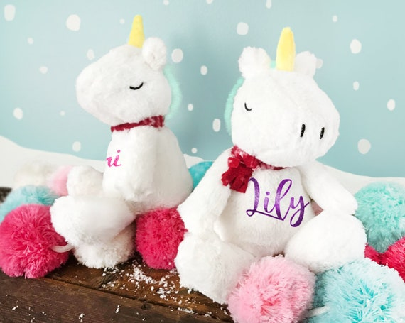 Christmas Unicorn Personalized Plush| Plush Unicorn | Unicorn Stocking Stuffer