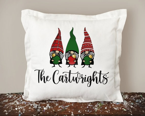 Christmas Gnome Personalized Pillow