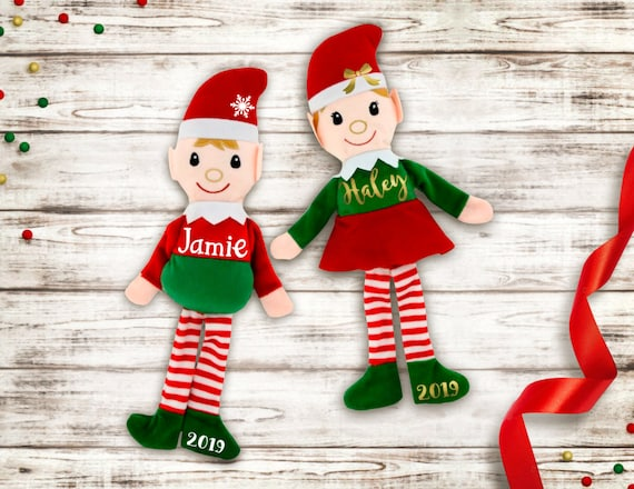 Personalized Christmas Elf   Plush Christmas Elf   Elf Stocking Stuffer