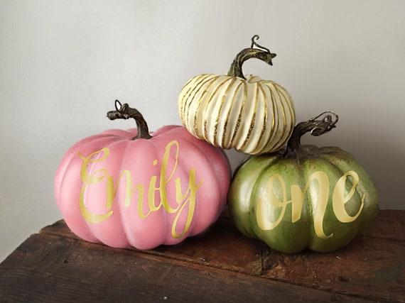 Our Little Pumpkin- Personalized Pumpkin
