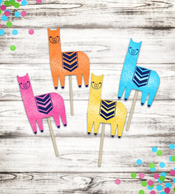 Llama Cupcake Toppers- Set of 12