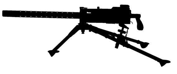m1919 silhouette gun sticker no background rifle is about etsy