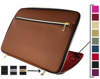 Personalized Gift Brown Macbook Sleeve Eco Friendly Macbook Case Washable Paper Macbook Sustainable Sleeve Personalized Sleeve Laptop