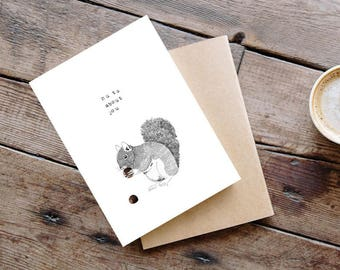 Nuts about you illustrated card