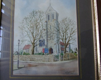 Penarth StAugustine Church Printed Picture