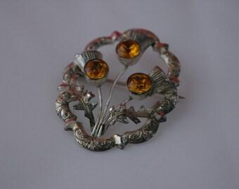 Scottish sterling silver brooch