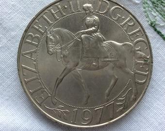 UK Jubilee coin 1977