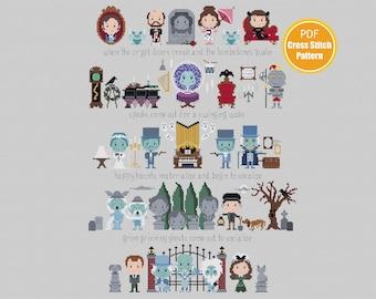 Haunted Mansion Inspired Cross stitch Pattern - Instant Download - Crossstitch Pattern - PDF
