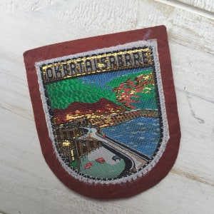 Vintage Okertalsperre Oker Dam Germany Germany Coat of Arms Crest Shield Souvenir Patch Badge Shield Retro Sew Embroidered Jacket Badge