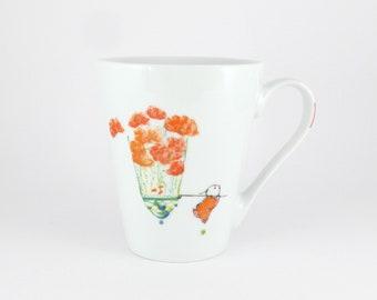 Porcelain Cup,Ceramic Cup,Chope en Porcelaine,Blue Cup,Tea,Coffee Cup,Gourmet cafe,Tasse à Café