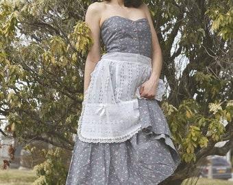 Floral sweetheart sleeveless spring dress