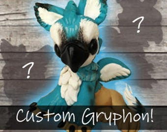 Custom Fantasy Art Critterling Gryphon Collectible Figure Sculpture
