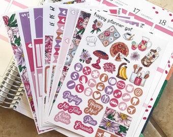 Bakery Daze Sticker Kit // Weekly Sticker Kit Made for the Erin Condren Life Planners