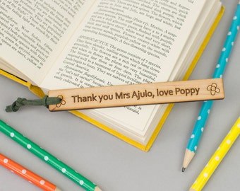 Thank you Teacher Gift - personalised bookmark