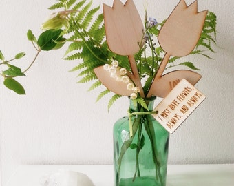 Personalised Wooden Tulips