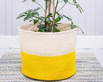 Alizeti: XL Yellow Storage Basket