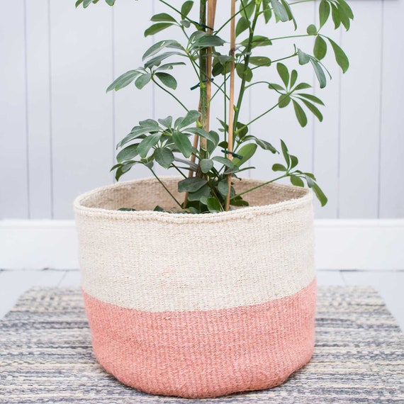 Outstanding Jioni Xl Dusky Pink Storage Basket Round Handowoven Sisal Basket Floor Basket Basket Planter Alphanode Cool Chair Designs And Ideas Alphanodeonline