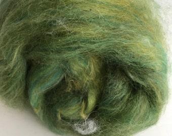 Green Spinning Fiber - Alpaca & Angora Rabbit
