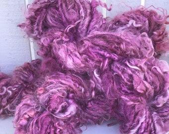 Pink Lock Spun Mohair Yarn- Art Yarn