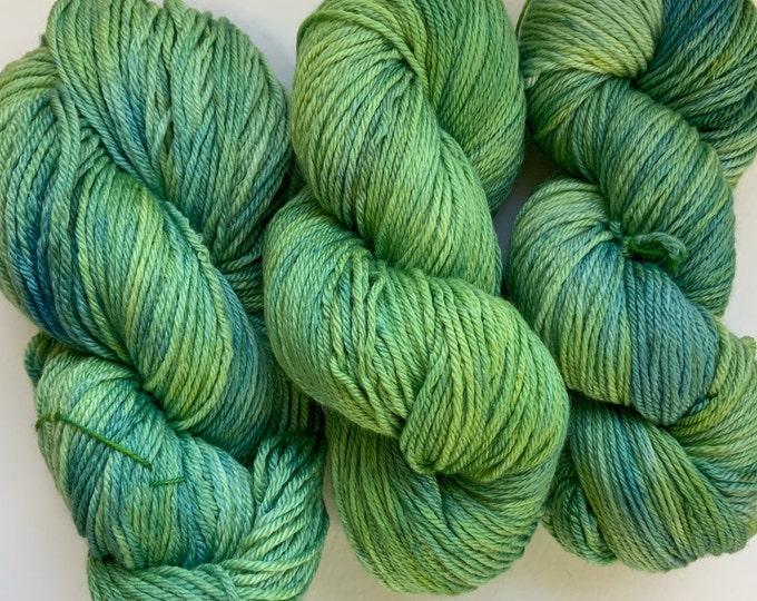 Green Merino/Silk Yarn - DK Weight - Hand dyed