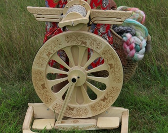 Wildflower Design for Echo and Monarch Spinning Wheel - SpinOlution
