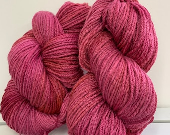 Pink Merino/Silk Yarn - DK Weight - Hand dyed