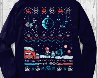 6344d2ce Star Wars Sweater Ugly Fathers Day R2D2 Gift Idea For Death Star Fans Darth  Vader Skywalker Force Starwars Kylo Ren Han Solo Jedi Adult